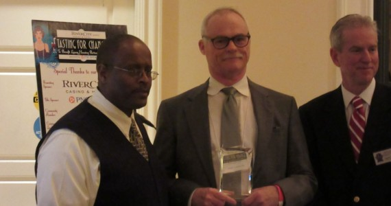Community Development Partner of the Year Award : Rise-(Left to Right) Reginald Scott, LHP Executive Director, Stephen Acree, Rise Executive Director/President, Dr. Phil Mannhard, LHP Board Chair