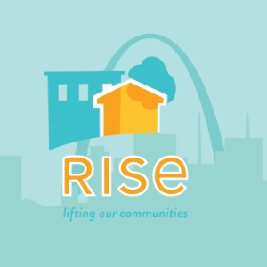 rise community development logo with city skyline